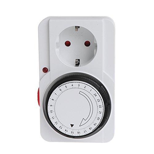 Qiman Mechanischer elektrischer EU-Stecker-Programm-Timer-Energie-Schalter-Sockel-Energie-Retter 24H