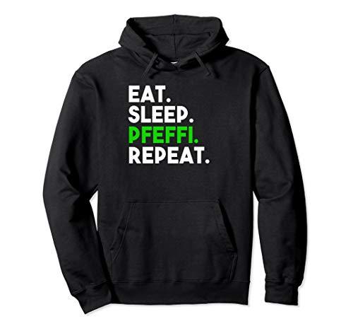 Eat Sleep Pfeffi Repeat Schnaps Oktoberfest Saufen Pfeffi Pullover Hoodie