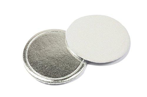 Beautytime Disque pour Poudre en Velour/Cuir Écologique