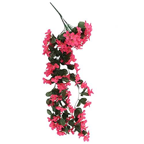 Vorcool, fiori pensili artificiali 4petals, pioggia floreale, ideali per il matrimonio o per la decorazione della casa, Rose, 80 cm
