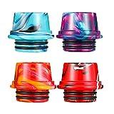 Housoutil 4Pcs 810 Drip Tipps Ersatz Harz Tropfspitze Stecker Abdeckung Standard Tropfspitze für Kaffee Maschine Gefälligkeiten EIS Maker Maschine Zubehör Zufällige Farbe