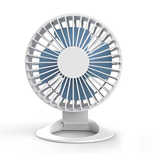 Mini USB Batterij elektrische ventilator, draagbare kleine Silent Desktop Fan, Mini Desktop ventilator for thuiskantoor Outdoor Travel (Color : White)