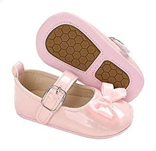 Mix & Max Front Bow Buckled Adjustable Strap Shoes for Girls