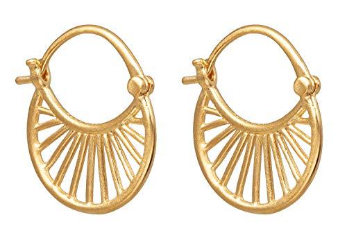 Pernille Corydon Ohrringe Damen Gold Small Daylight Earrings Ohrhänger Rund 1,6 cm Silber Vergoldet - E472g