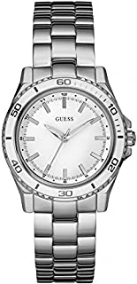 Guess Women's W0557L1 Quartz Watch with Silver Dial Analogue Display and Silver Stainless Steel Strap
