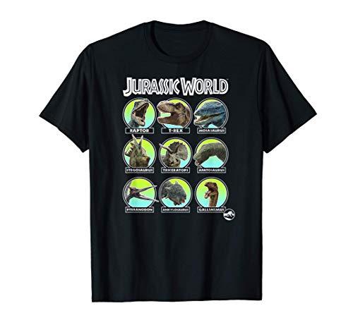 Jurassic World Dino Identification & Names Camiseta