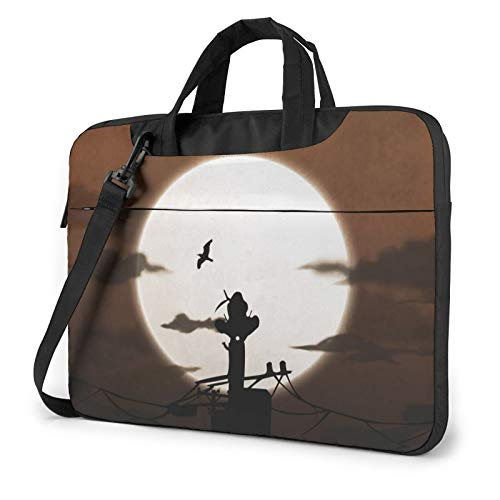 14 inch Laptop Sleeve Bag, Naruto Tablet Briefcase Ultra Portable Protective Shoulder Shockproof Laptop Canvas Cover MacBook Pro/Notebook