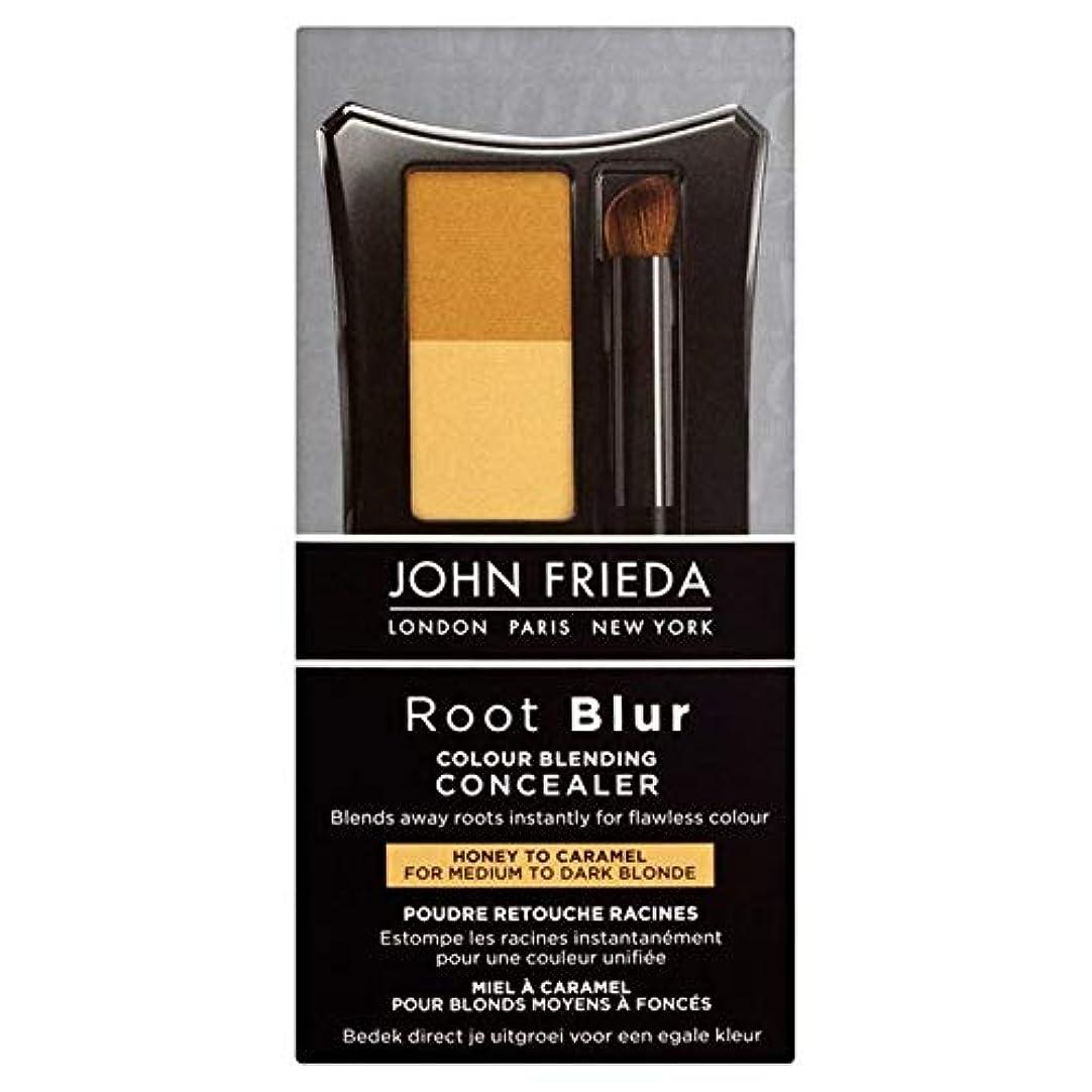 アドバイス事務所靴下[John Frieda ] キャラメルの90グラムにコンシーラー蜂蜜をブレンドジョン?フリーダルートぼかし色 - John Frieda Root Blur Colour Blending Concealer Honey to Caramel 90g [並行輸入品]