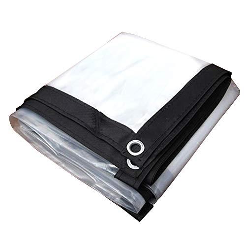 CHAOXIANG Bâche De Protection Isolation Imperméable Visière Tissu en Plastique Résistant À La Déchirure Anti-âge Facile À Plier PE, Personnalisable (Couleur : Clair, Taille : 3X8m)
