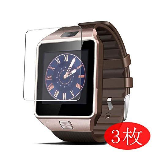 VacFun 3 Pezzi Trasparente Pellicola Protettiva Compatibile con Smartwatch Smart Watch ZOMTOP EMEBAY Hocent DZ09, Screen Protector Protective Film (Non Vetro Temperato) Protezioni Schermo New Version