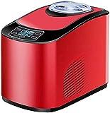 KALELAISU アイスクリームメーカー アイスクリーマー 30分で出来上がり 電動 1.5L ソフト ハード ソフトクリームメーカー 小型 業務用 100V (EB-1.5L-赤)