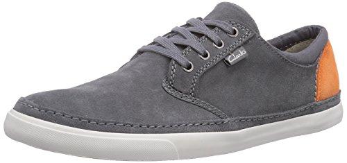 Clarks Herren Torbay Craft Sneakers, Grau (Grey Suede), 42.5 EU