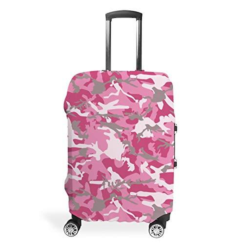 Funda protectora para maleta de camuflaje rosa, protección para equipaje,...