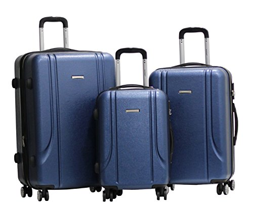 Set di 3 Valigie - Valigia ALISTAIR Smart - ABS Ultra Light - 4 ruote - Blu