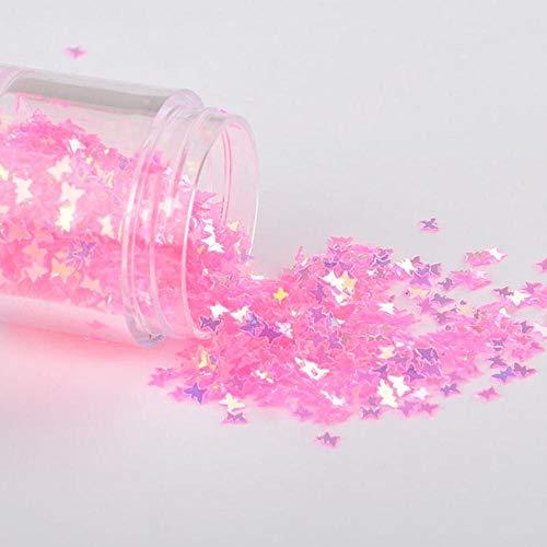 10 g/pak roze kristal mix maan dot shell zwaan nagel pailletten bruiloft ambachtelijke, slijm maken bruiloft decoratie confetti, 3x4mm vlinder