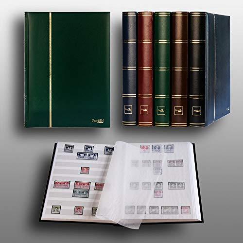 Prophila Collection Album pour Timbres, 60 Pages, intérieur Blanc (couv. Vert)