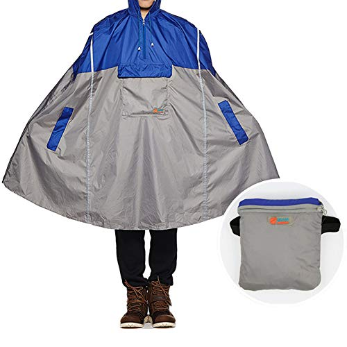 Comcrib Multifunktions Regen Poncho Outdoor Einteiliger Regenmantel Fahrrad Regenjacke Rucksack Plane Regenschutz Regenponcho Regenumhang für Damen Herren