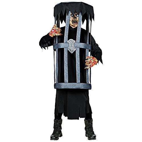 WIDMANN Disfraz de prisionero en jaula, color negro, large/extra-large (01182)