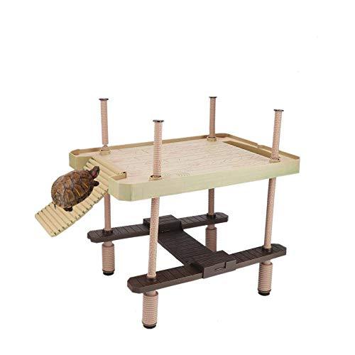 Schildkröte Sonnenbad Plattform, Schwimmende Plattform für Reptil, Piattaform Eimer der Schildkröte Wasser der Harz umweltfreundlich der Pflanze Basierung der Schildkröte Große