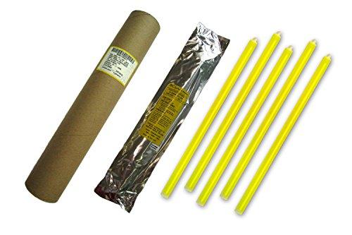Cyalume Carton de 5 Bâtons Lumineux SnapLight Non-IMPACT 40cm Jaune 1 Anneau 12 Heures 15'' Emballés Individuellement