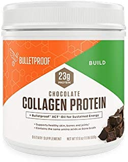 Bulletproof Collagen Peptides Protein Powder - Chocolate Hydrolyzed, Perfect for Keto and Paleo Diet, Grass Fed, Vital Amino Acid Building Blocks, with coconut MCT XCT Oil (17.6 Ounces)