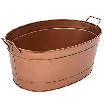 Achla Designs C-81C Copper Plated Oval tub