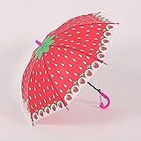 YFBY, Paraguas Infantiles,Paraguas para niños, Paraguas portátil a Prueba de Viento, 8 Varillas reforzadas, con Silbato-D