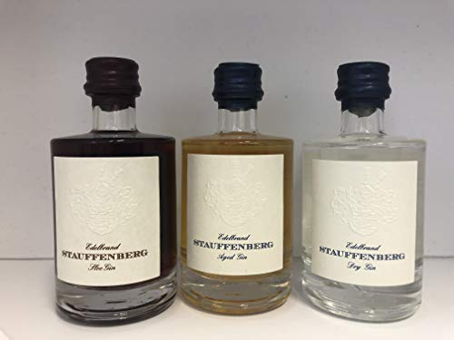 Stauffenberg Gin | Geschenkset | Threesome | 3x 50 ML | GVP | Gin Mini | Miniatur