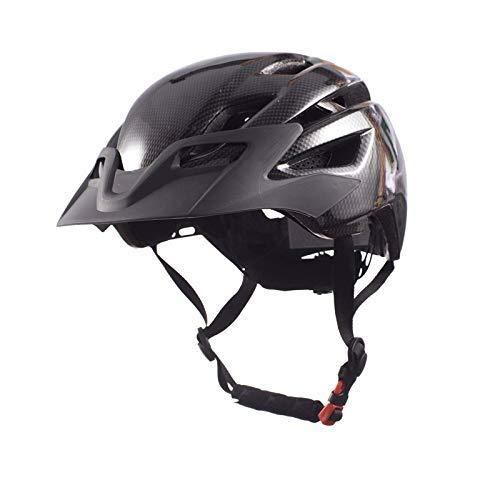 Casco de bicicleta, 300g espesa la fibra de carbono MTB bicicleta de...