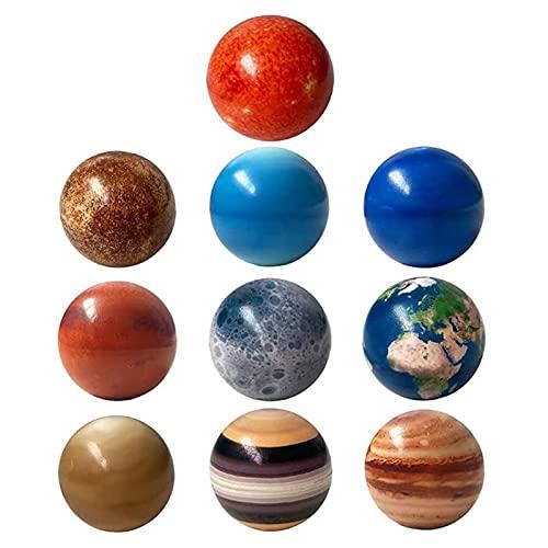 Palline da 10 Pezzi per Il Sistema Solare, Palline Antistress con Stampa a Colori Palline per Il Pianeta del Sistema Solare Palline Antistress per Il Sistema Solare per Bambini e Adulti