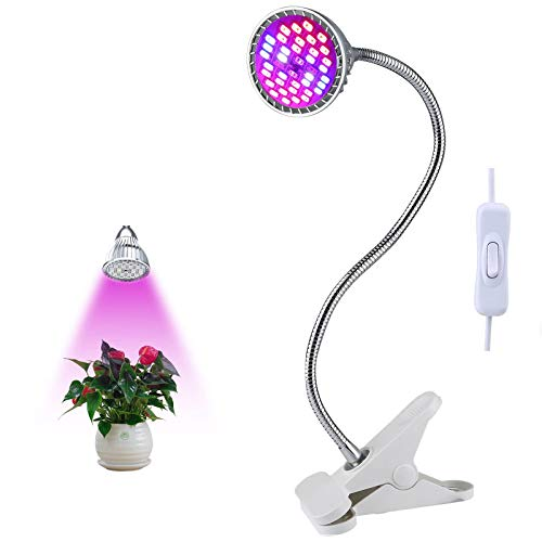 LED Vollspektrum Pflanzenlampe, Lovebay 9W 40 LED-Pflanzenlicht, Überwinterungshilfe, flexibler 360-Grad-Schwanenhals, können für Wasserpflanzen, Blumen und Gemüsesamen verwendet werden