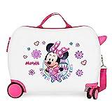 Disney Minnie Super Helpers Maleta Infantil Blanco 50x38x20 cms Rígida ABS Cierre de combinación lateral 34 1,8 kgs 4 Ruedas Equipaje de Mano