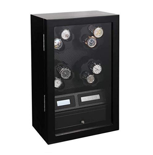 GLXLSBZ 8 + 5 Ajuste de Madera de Ocho velocidades Enrollador de Reloj Unisex, automático Girar bobinado de Reloj eléctrico Caja de Enrollado Dispositivo de balanceo Giratorio