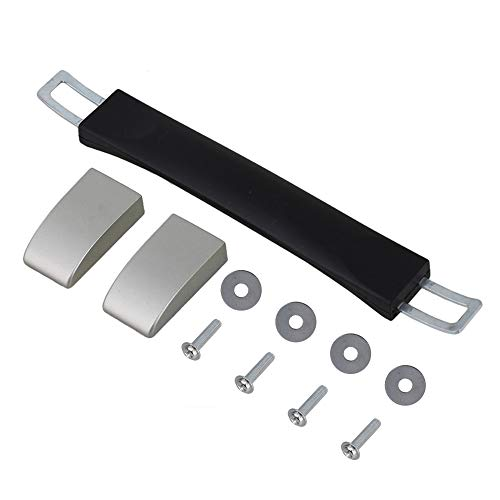 In lega di zinco nera+PVC Lunghezza 15,5 cm Multifunzione Maniglia di Ricambio (25 x 2,5 cm)