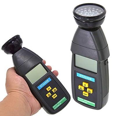 SANON Digital Handheld Non-Contact Stroboscope Tachometer Tester 60~40000RPM DT2240B