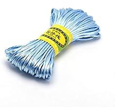 20 M 2.5 Mm Mix Kleur NylonZwart Rattail Satijn Chinese Knopen Zijde Macrame Koord Kralen Gevlochten Shamballa String D...