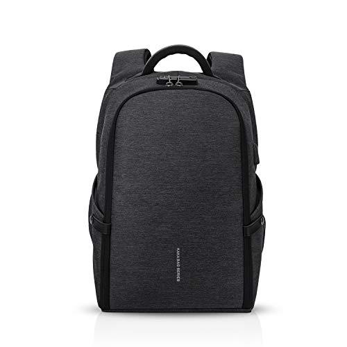 FANDARE Anti-theft Zaino Uomo Laptop Borse Studente Borsa da Scuola Outdoor Viaggio Multifunzione Rucksack Impermeabile Poliestere Nero