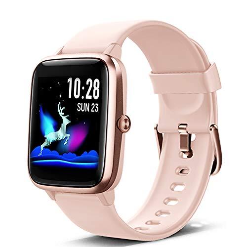 Lintelek Smart Watch, Full Touch Screen Smartwatch HR Monitor, Sleep Tracker, Stopwatch,...