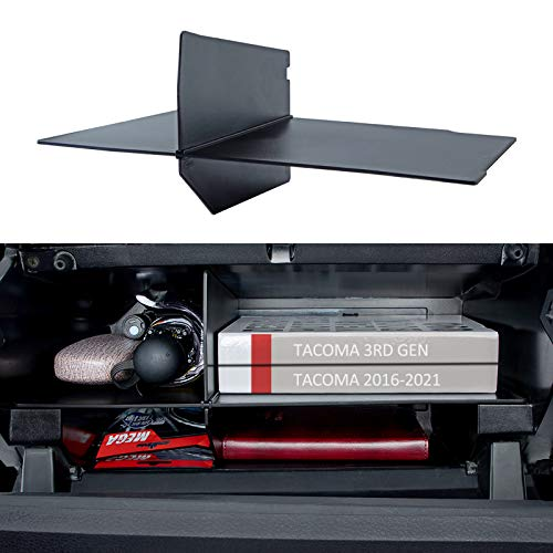 JKCOVER Compatible with Toyota Tacoma Glove Box Dividers Organizer 2016 2017 2018 2019 2020 2021 Upgraded Accessories,Insert Box ABS Secondary Storage