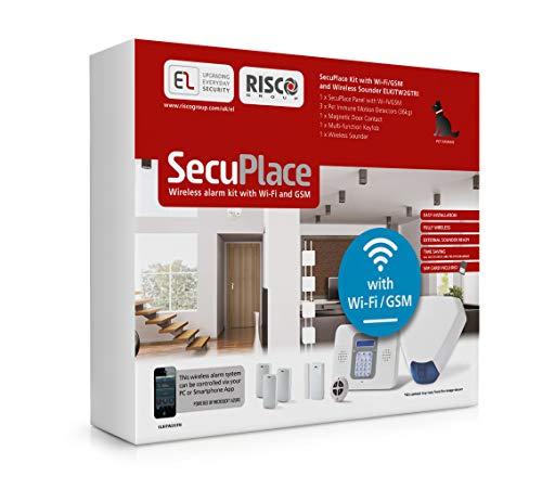 SecuPlace Risco ELKITW2GTRI - Kit de Alarma antirrobo inalámbrica con WiFi, gsm y aplicación para Smartphone