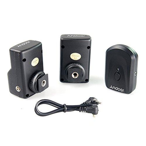 Andoer PT-04GY Disparador de Flash Universal Control Remoto de radio inalámbrico 1 transmisor y 2 Receptores para Canon Nikon Pentax Olympus(16 canales)