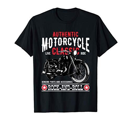 Camisetas Moteras Rockabilly Hombre Mujer Vintage 70s Motos Camiseta