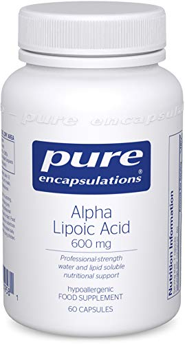 Pure Encapsulations - Alpha Lipoic Acid ALA 600mg - Hypoallergenic Water and Lipid Soluble Nutritional Supplement - 60 Vegetarian Capsules