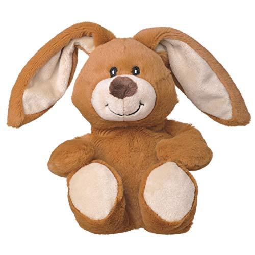 welliebellies Midi Wärmekuscheltier für Kinder - Wärmekissen gegen Schmerzen und zum Wohlfühlen - Wohltuender Kräuterduft durch Rosmarin und Lavendel, Eukalyptus & Pfefferminz - Hase