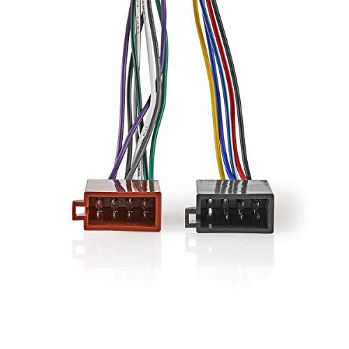 Nedis Cable Adaptador ISO Cable Adaptador ISO Sony de 16 Pines - Conector de Radio - 2X Conector de Coche - 0,15 m Varios 0.20 m