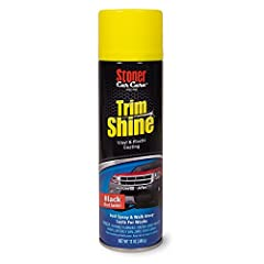 Offers a perfect solution for hard-to-reach areas like dashboards and under the hood Features a wipe free aerosol technology - Simply spray and walk away Designed to restore Color and shine Engineered to last for weeks between applications