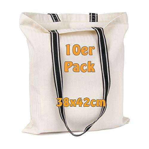 Stijlvolle boodschappentas met twee gestileerde hengsels   Visgrete naaidesign   onbedrukt   Katoenen tas   Jute zak   38x42cm