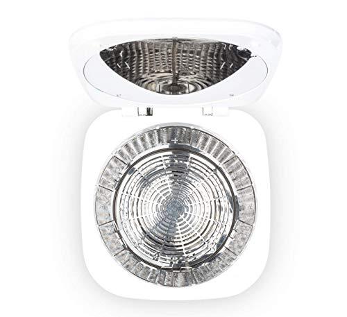 KLARSTEIN Zap Dry - Asciugatrice, 820 W, Capacità: 50 L, Salvaspazio, Cestello in Acciaio Inox, Alloggiamento in Plastica, Pannello di Controllo Touch, Display LED, Verde Acqua