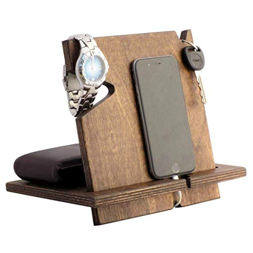 Cell Phone Docking Station, Christmas Gifts for Men, iPhone Holder, Cell Phone Charging Stand, Desk Organizer