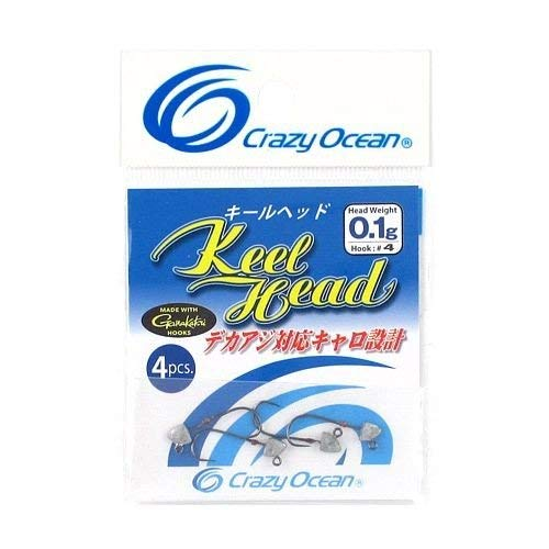 クレイジーオーシャン キールヘッド 0.1g-#4